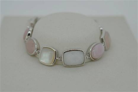 Ladies ELLE Brand Sterling Silver Multi Stone Bracelet
