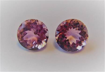 Pair of Loose Stones 605 ct Pink Tourmaline