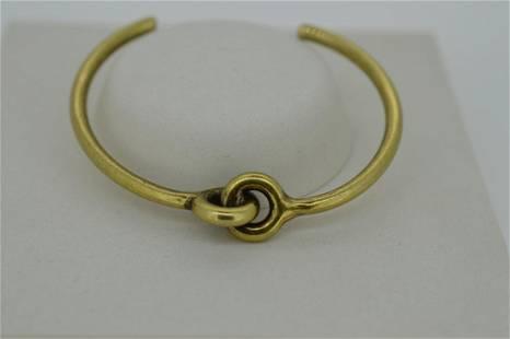 Ladies Giles Brother Slender Brass Finish Bracelet