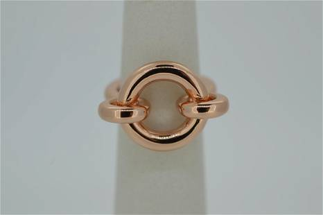 Ladies Giles Brother Copper Tone Chain Link Ring