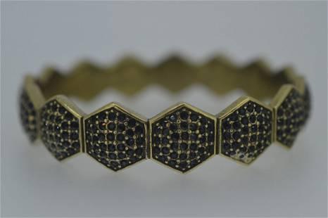 Ladies Giles Brother Brass Hexagon Bangle Bracelet