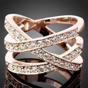 Rose Gold Filled Cubic Zirconia Ring