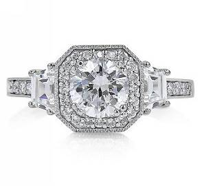 White Gold Filled Cubic Zirconia Engagement Ring