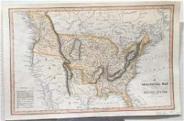 Hinton/Fenner/Sears: Antique Map of United States, 1832