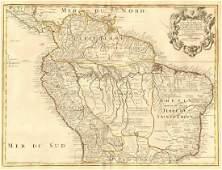 de l'Isle/Buache: Antique Map of Peru to Brazil, 1745