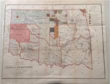 G.P Strum: Antique Map of Indian Territory, 1883