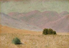 Henry Russell Wray Rocky Mts Colorado Oil Painting 1917
