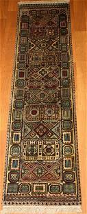 Indian Geometric Jaipur Hand Woven Runner Rug