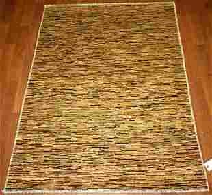 Contemporary Gabbeh Hand Woven Wool Rug