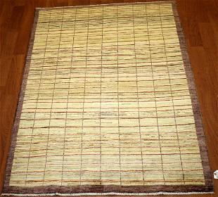 Modern Gabbeh Hand Crafted Wool Rug