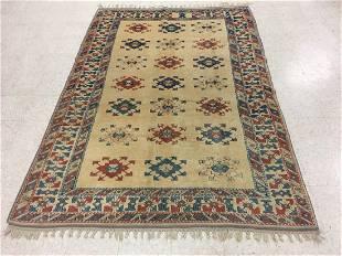 Turkish Basmakchi Handmade Wool Rug