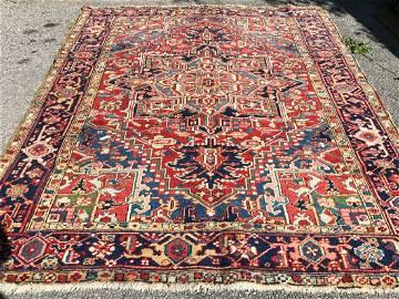 Antique Heriz Serapi Handmade Wool Rug
