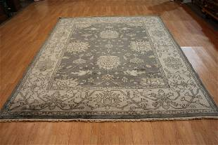Antique Look Oushak Hand Woven Wool Rug
