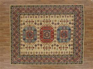 Kazak Hand Tufted Wool Rug