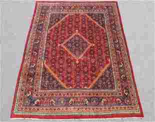 Semi Antique Persian Hosseinabad Handmade Rug