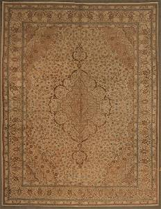 Antique Persian Kashan Hand Woven Wool Rug