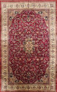 Semi Antique Persian Sarough Handmade Wool Rug