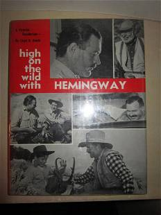 Wild Hemingway Pictorial Recollection First Edition