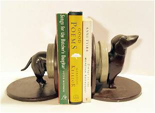 Pair of Folk Art Carved Bookends