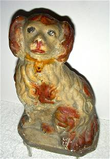 Late 19th Century American Chalk Ware Dog Spaniel