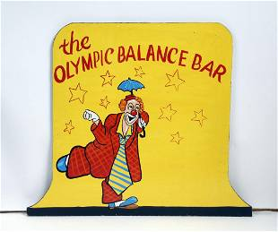 The Olympic Balance Bar Circus In Use Sign