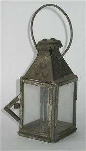 Vintage Miniature Tin Candle Lantern 1930