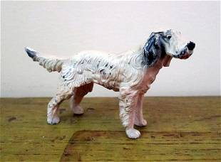 Miniature Cast Iron Painted Dog