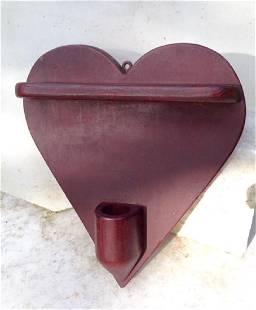 Heart Shaped Pipe Holder Circa 1900