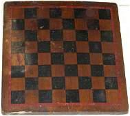 American Game Board Original Paint Late 19th Century