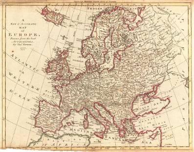 Bowen Antique Map of Europe 1778