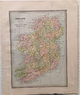 Cram Antique Map of Ireland 1887