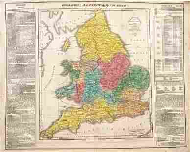 Lavoisne Antique Map of England with Wales 1821