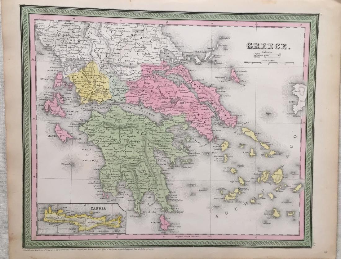 Cowperthwait: Antique Map of Greece, 1850