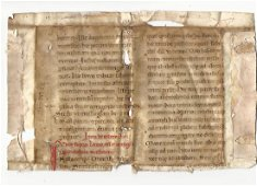 800 Yr Old Vellum Manuscript Gospel of Matthew