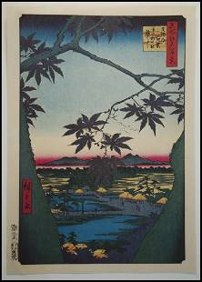 Ando Hiroshige Autumn Japanese Woodblock Print