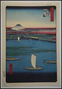 Ando Hiroshige Mitsumata Japanese Woodblock Print
