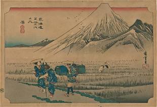 Ando Hiroshige Tokaido Road Japanese Woodblock Print