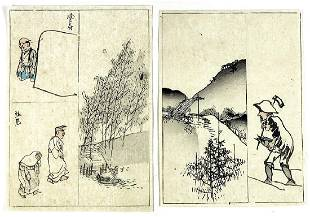 Unidentified 2 Japanese Woodblock Prints