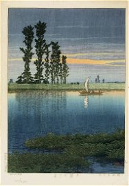 Kawase Hasui First Edition Japanese Woodblock Print