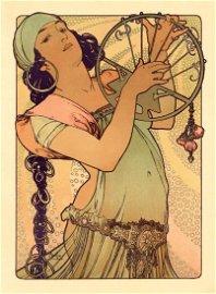 "Alphonse Mucha Original Lithograph ""Salome"""
