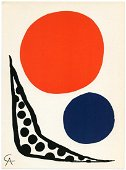 Alexander Calder Lithograph, Signed in Plate
