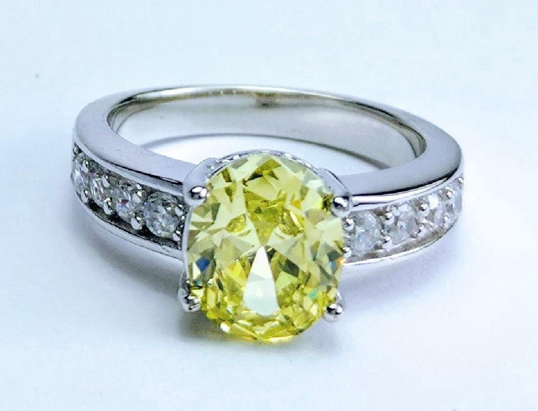 sterling silver tashmarine diopside cz ring 385ctw