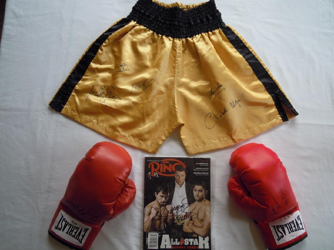 Collection of Everlast Hand Signed Boxing Memorabilia