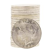 Roll of (20) 1922 $1 Brilliant Uncirculated Peace