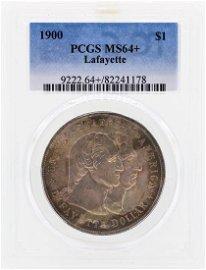 1900 Lafayette Commemorative Dollar Coin PCGS MS64+
