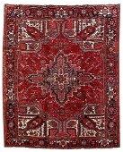 Persian Heriz Handmade Rug 7' x 9'