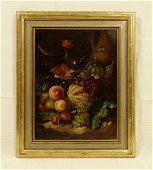 Still Life w/ Fruit Oil Painting