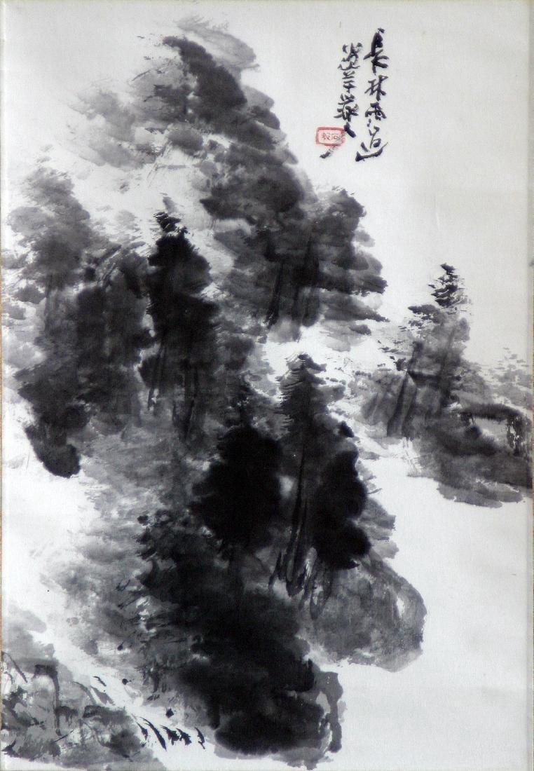 Japanese Showa Period Inoue Sekison Hanging Scroll
