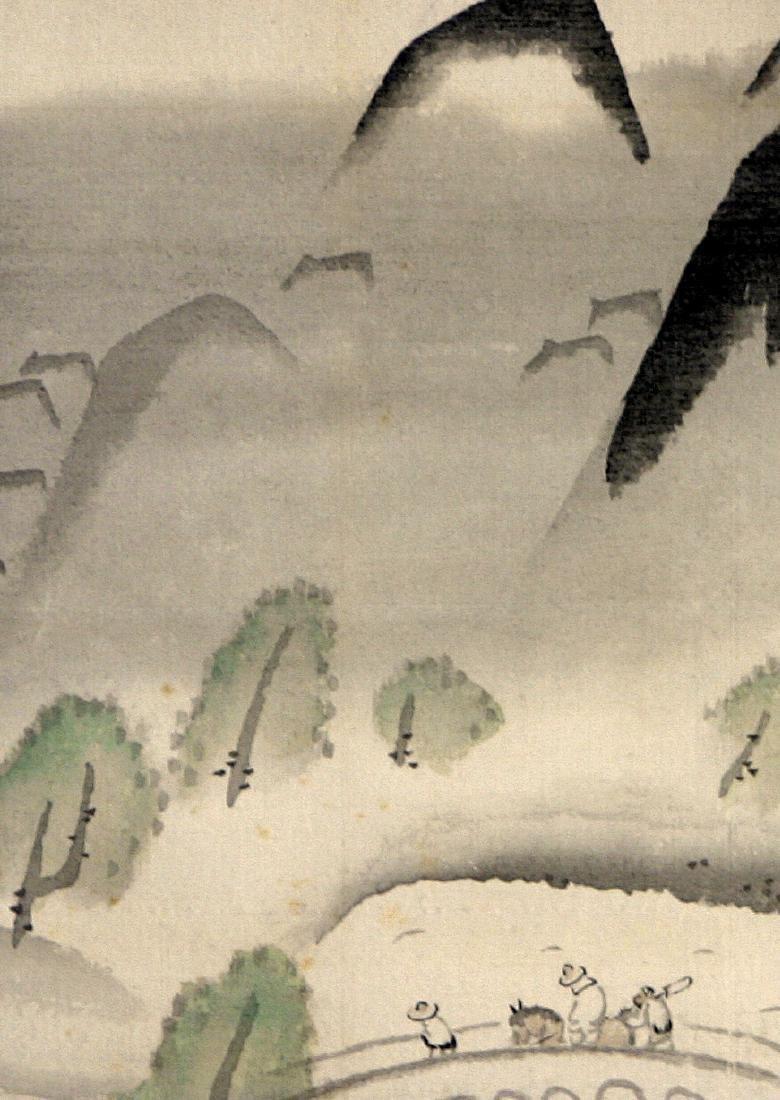 Japanese Showa Ochi Shokan Hanging Silk Scroll - 4