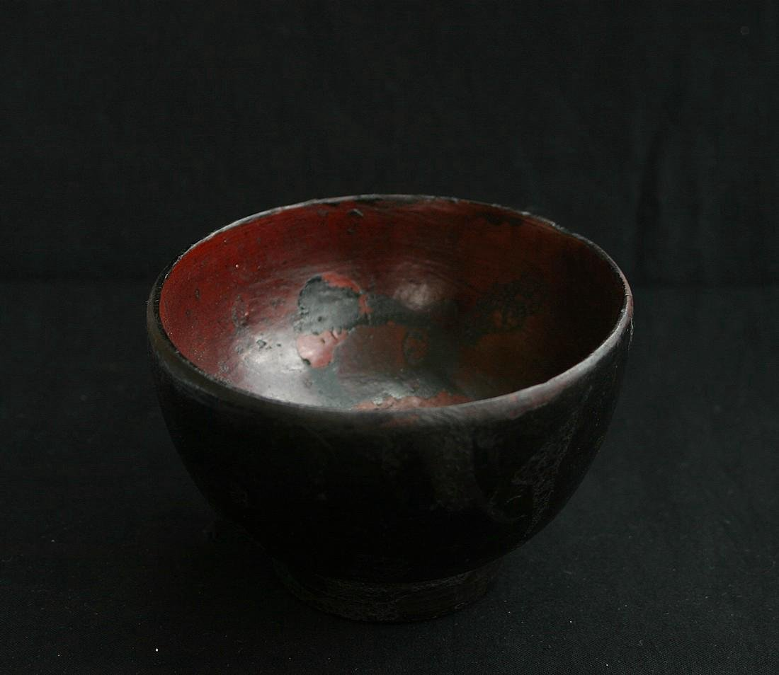 Antique Japanese Meiji Lacquered Worker's Bowl, 19th C